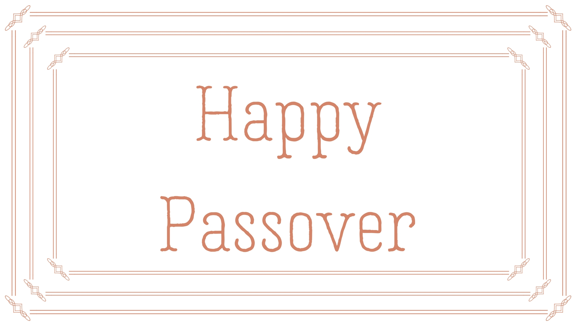 Happy Passover Rectangle Frame Greeting Card Postcard 23