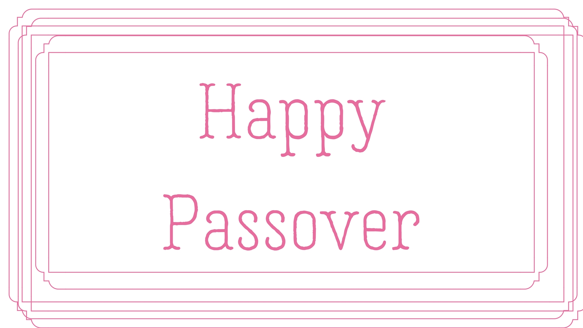 Happy Passover Rectangle Frame Greeting Card Postcard 21