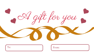 10 Gift, Present Tags For Happy Holidays With Love And Passion Gold Sash White