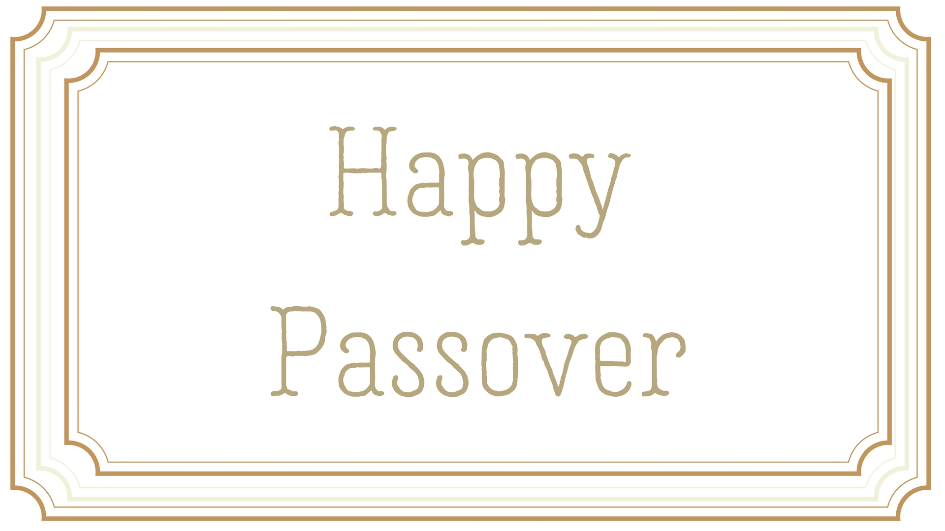 Happy Passover Rectangle Frame Greeting Card Postcard 3