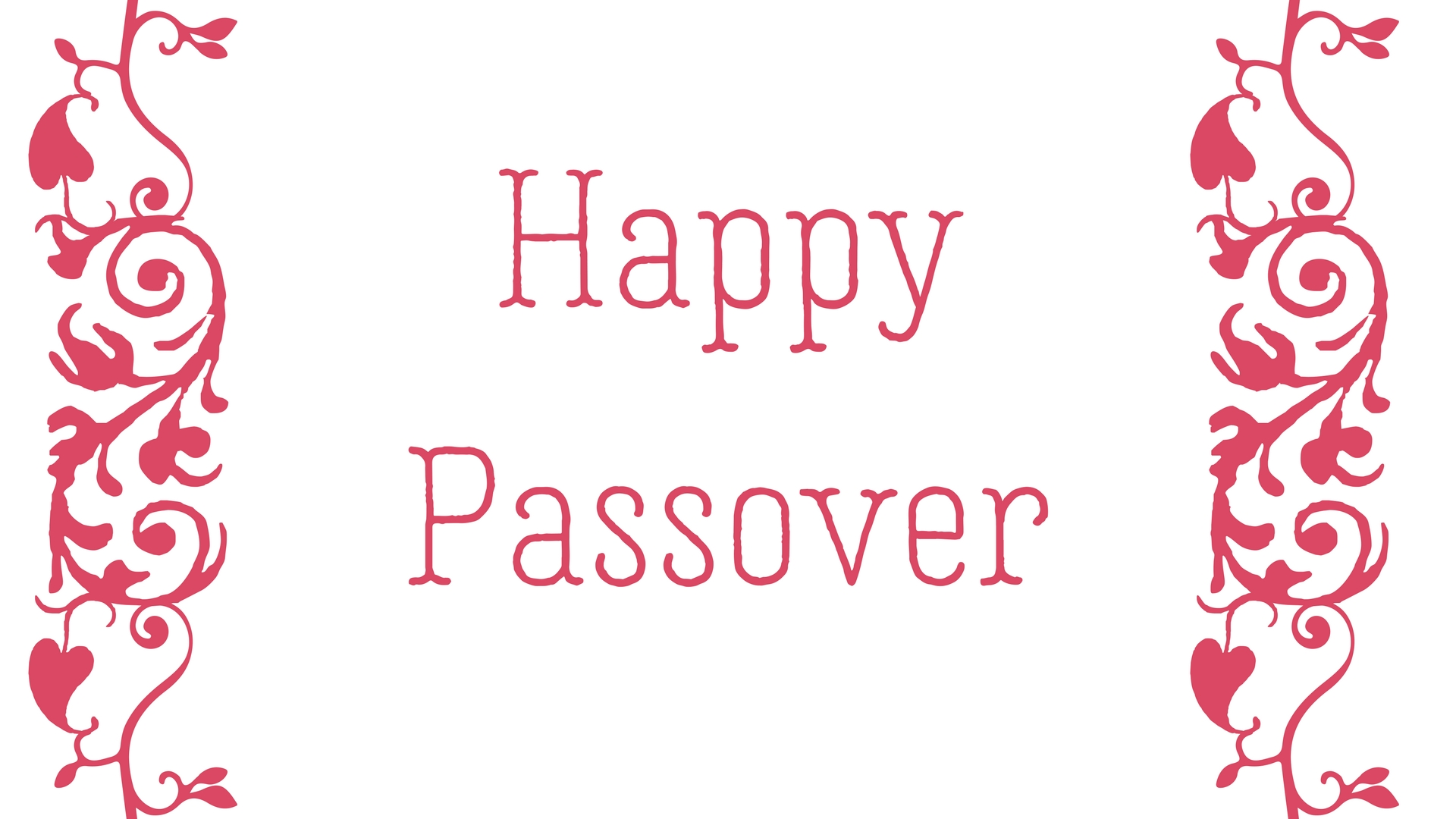 Happy Passover Rectangle Frame Greeting Card Postcard 13