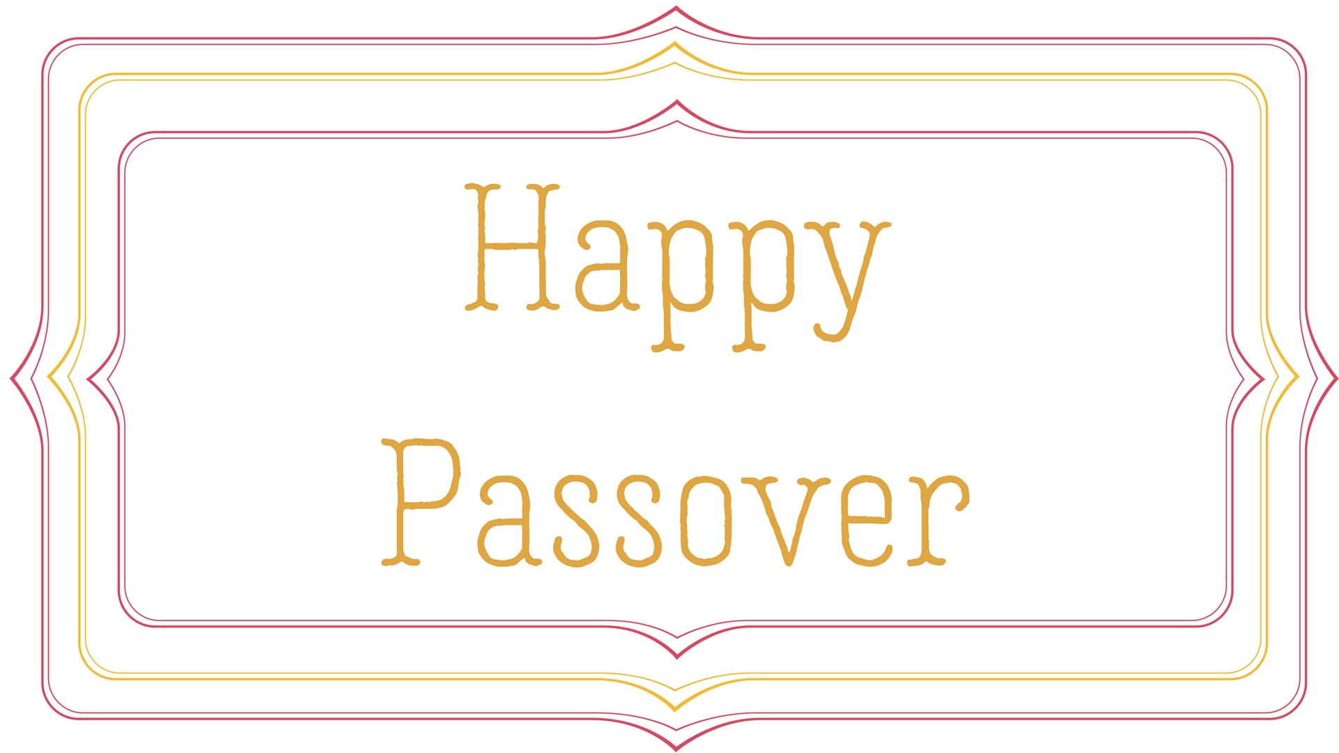 Happy Passover Rectangle Frame Greeting Card Postcard 19