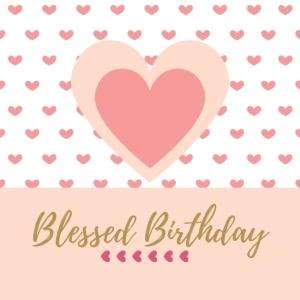 3 Blessed Birthday Happy Birthday Printable Square Greeting Postcard