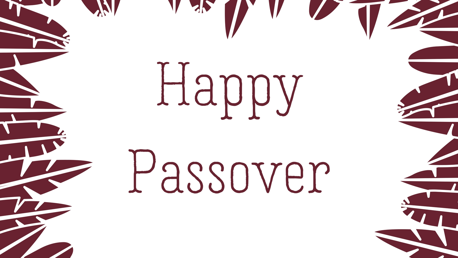 Happy Passover Rectangle Frame Greeting Card Postcard 28