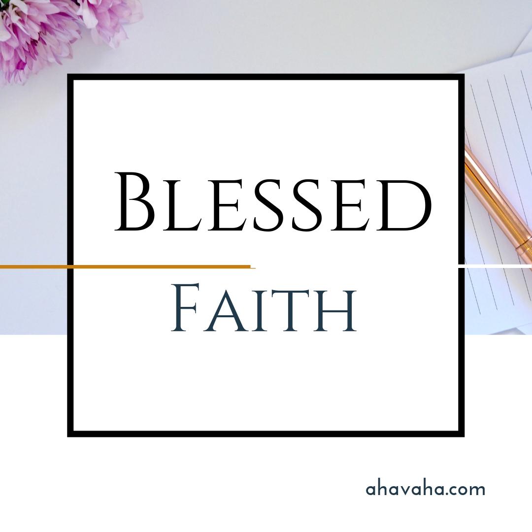 Happy Joyful Blessed Faith Multicolored Greeting Card Square Image 10