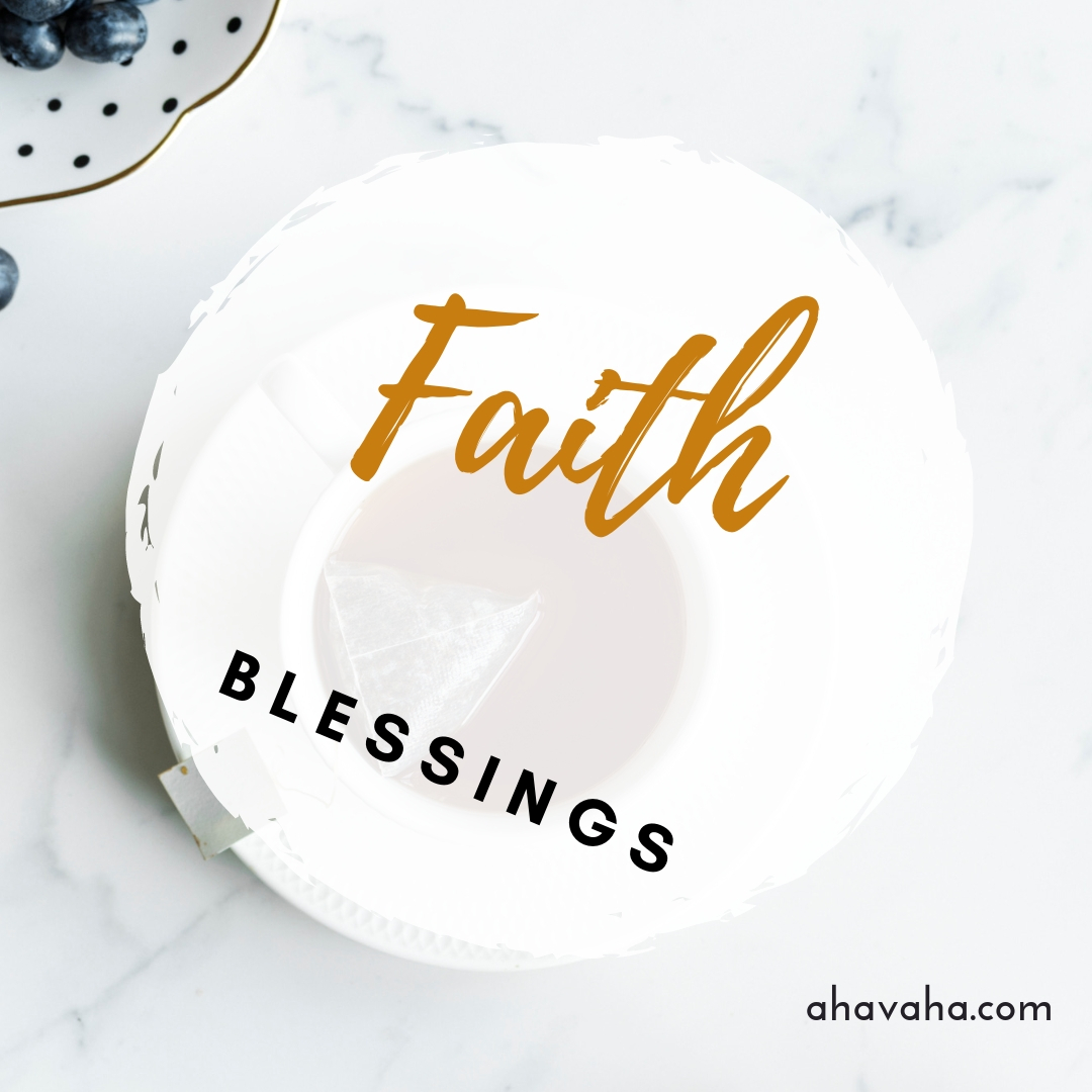 Happy Joyful Blessed Faith Multicolored Greeting Card Square Image 2