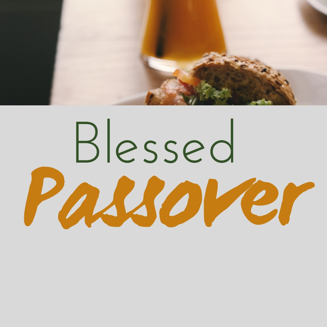 Praying You A Happy, Blessed Passover And Pesach Greeting Holiday Social Media Square Image Card 27