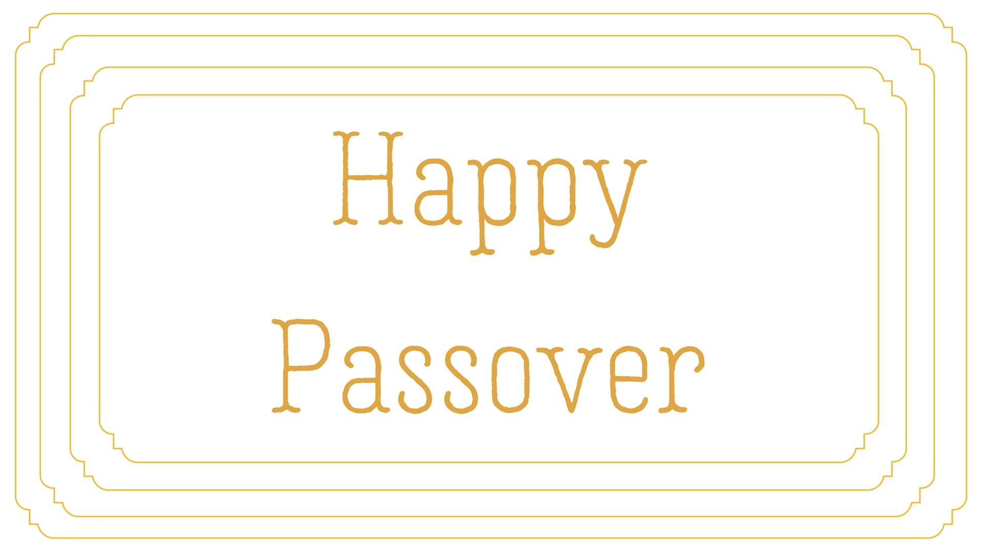 Happy Passover Rectangle Frame Greeting Card Postcard 20