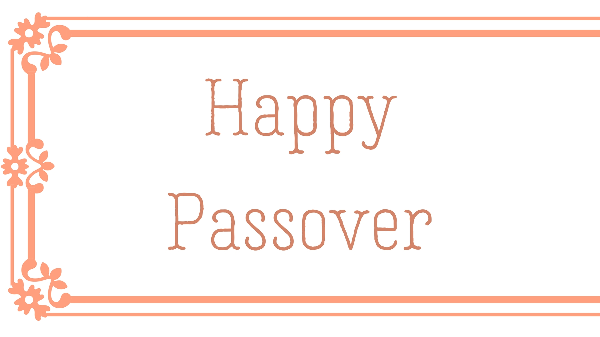 Happy Passover Rectangle Frame Greeting Card Postcard 27
