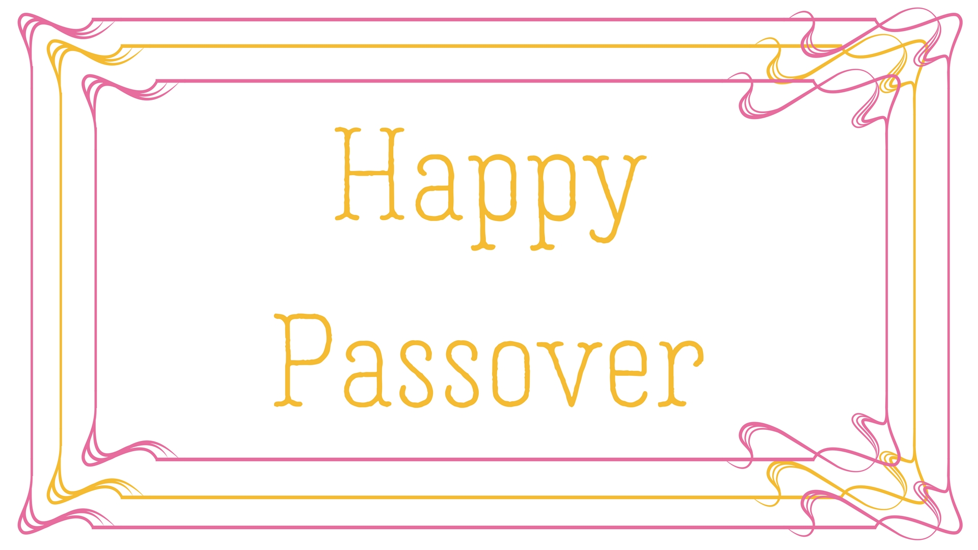 Happy Passover Rectangle Frame Greeting Card Postcard 15