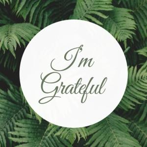 1 I'm Grateful Printable Square Greeting Postcard