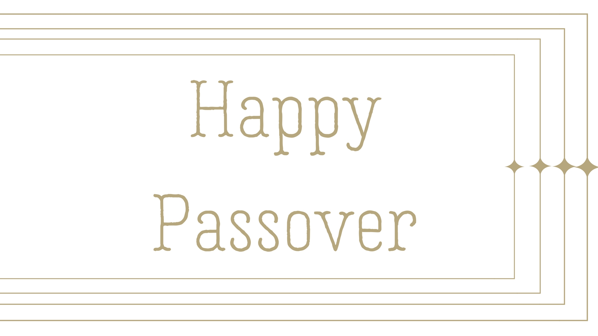 Happy Passover Rectangle Frame Greeting Card Postcard 22
