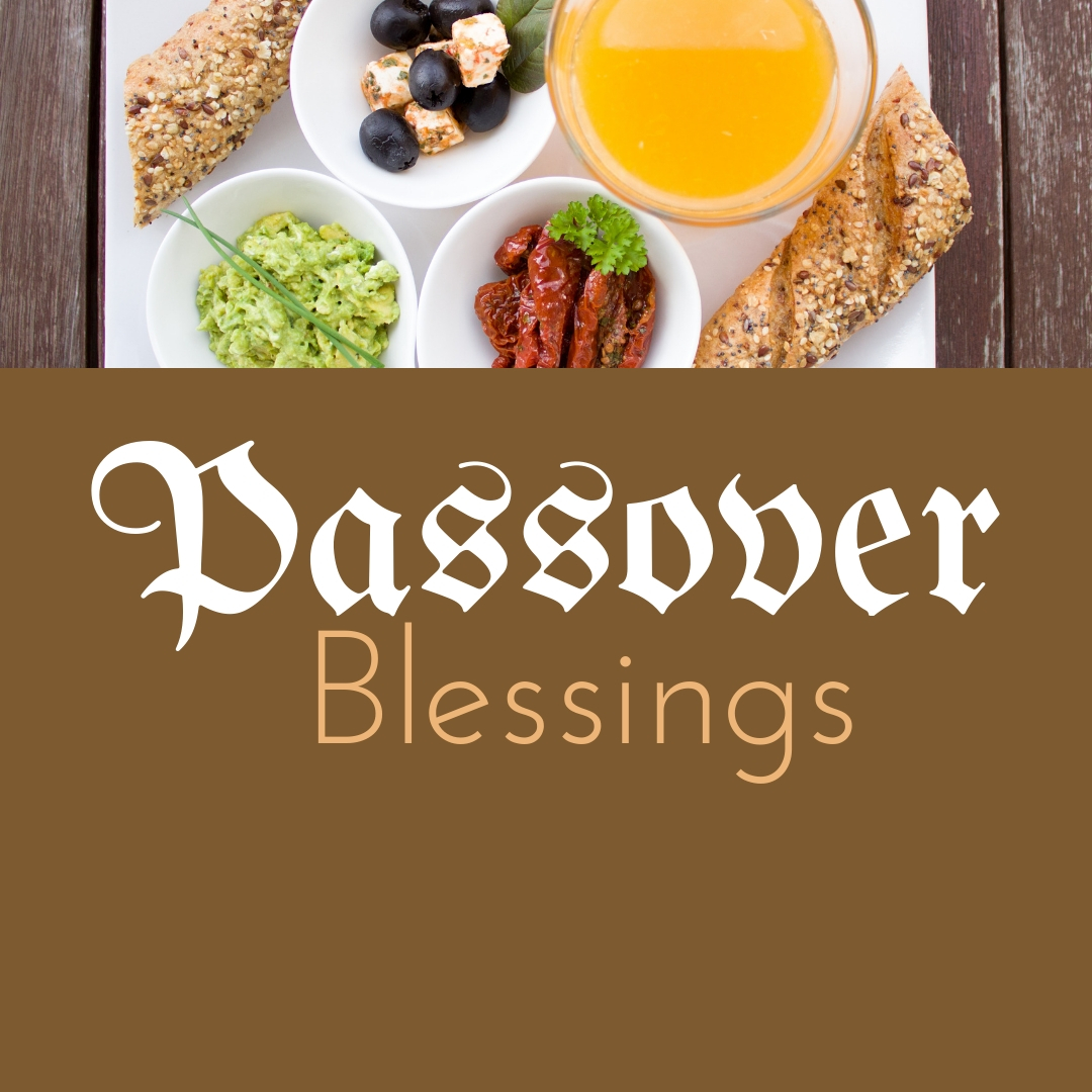 Praying You A Happy, Blessed Passover And Pesach Greeting Holiday Social Media Square Image Card 26