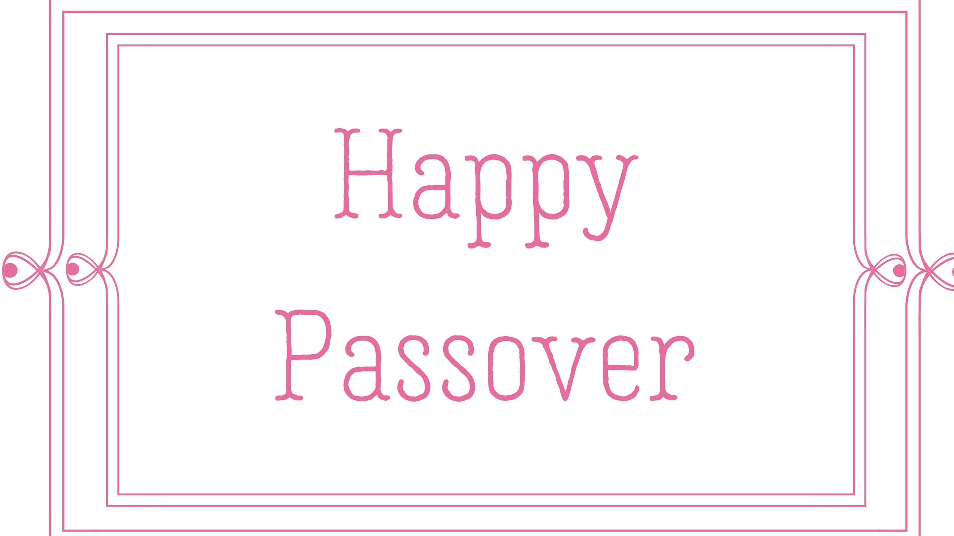 Happy Passover Rectangle Frame Greeting Card Postcard 25