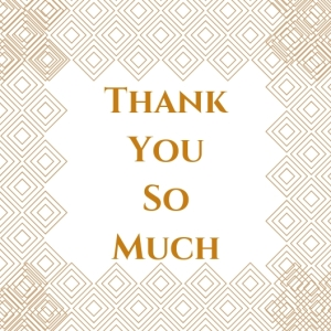 4 Thank You So Much Printable Square Greeting Postcard