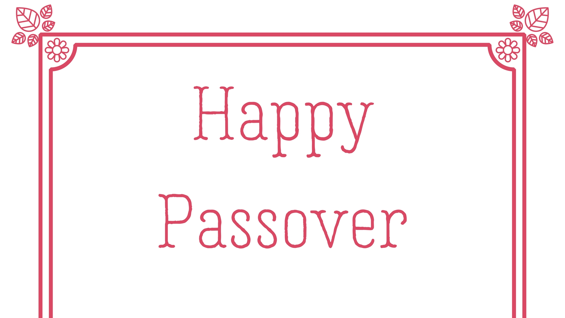 Happy Passover Rectangle Frame Greeting Card Postcard 30
