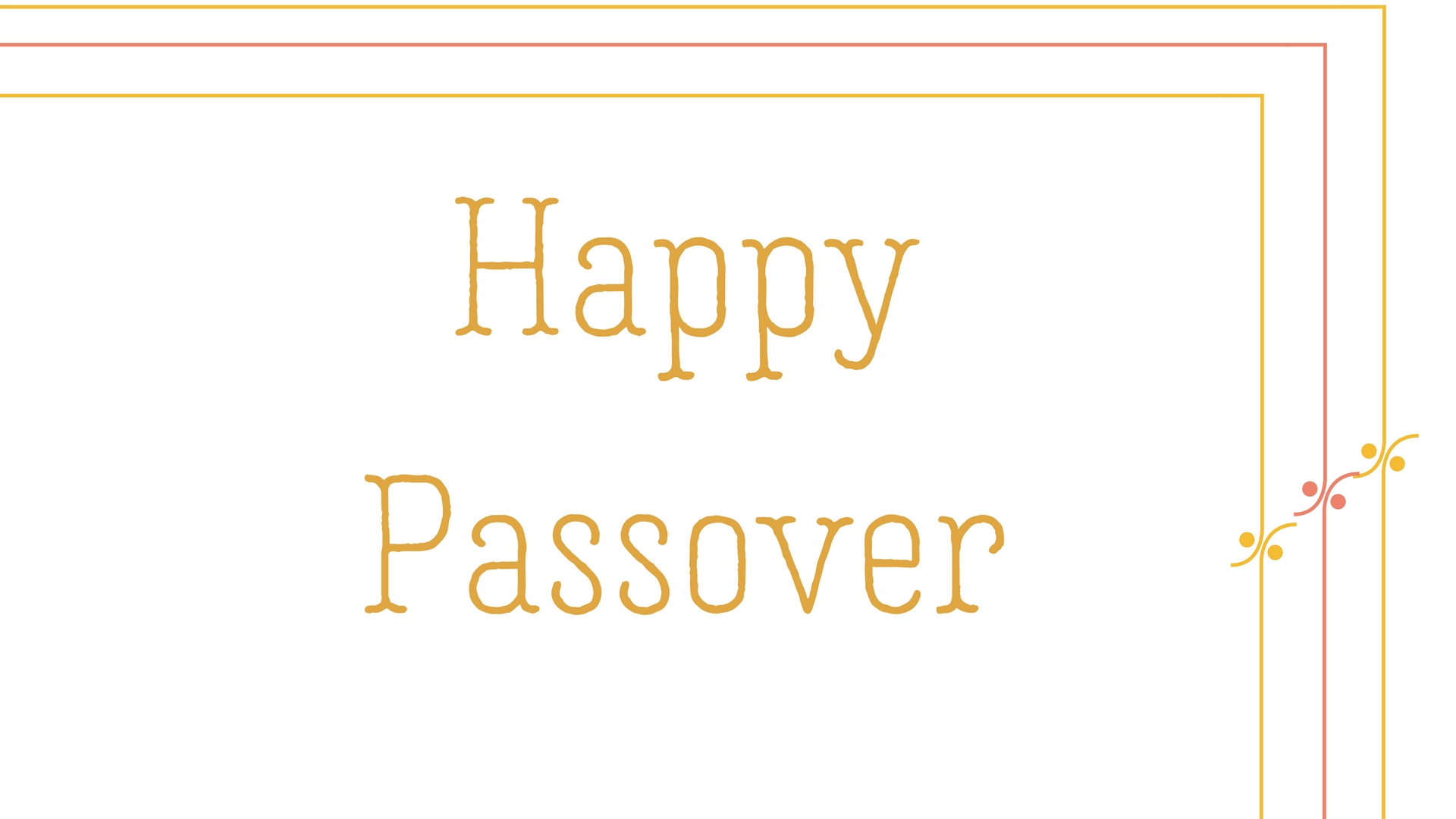 Happy Passover Rectangle Frame Greeting Card Postcard 18