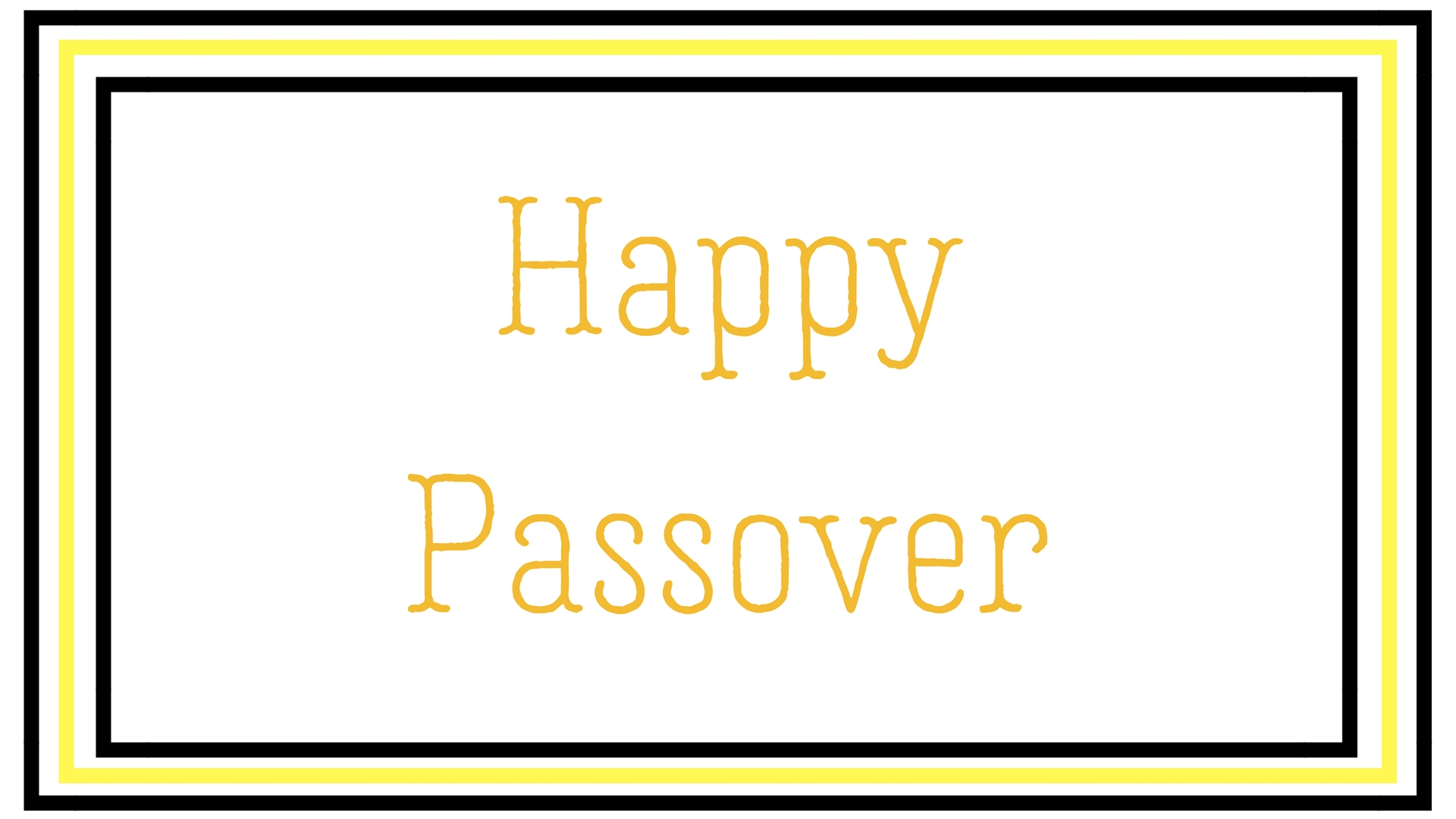 Happy Passover Rectangle Frame Greeting Card Postcard 1
