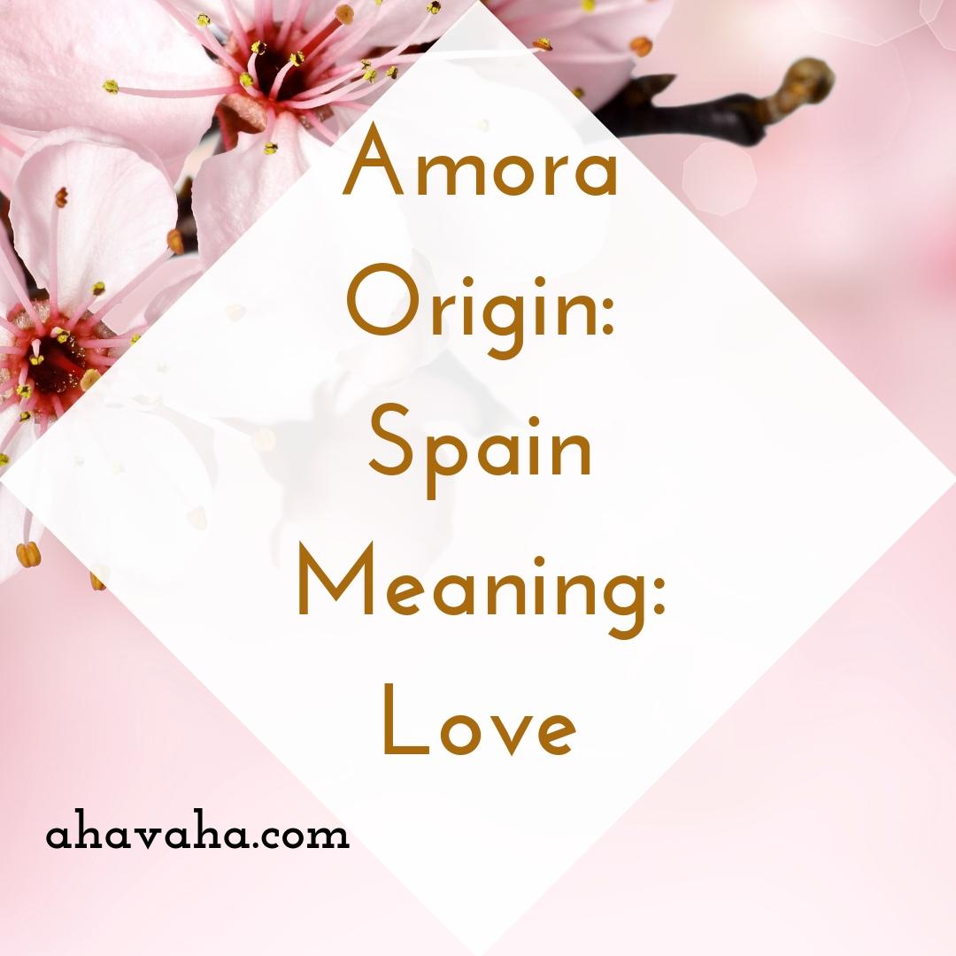 Amora - Origin - Spain Meaning - Love - Female Names Based On Love Social Media Square Image