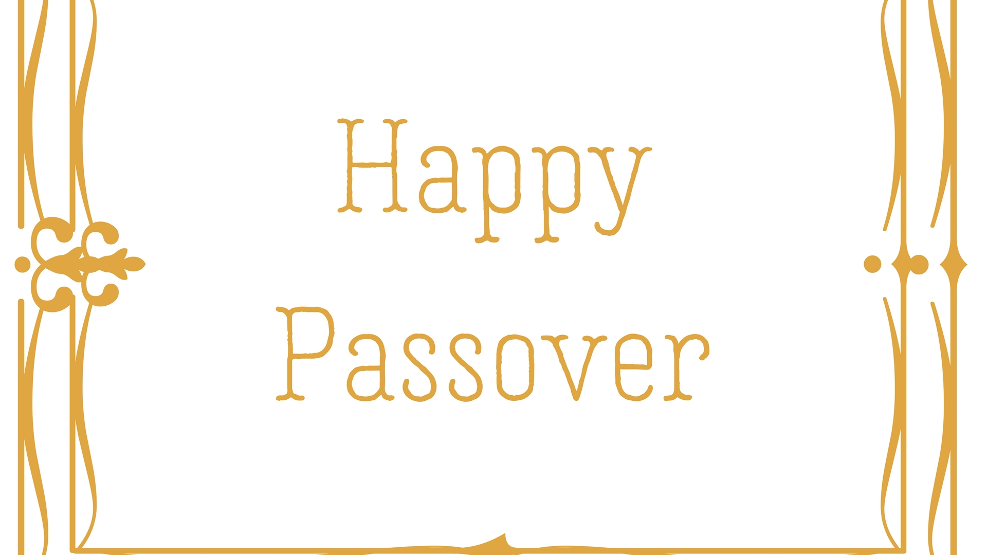 Happy Passover Rectangle Frame Greeting Card Postcard 4
