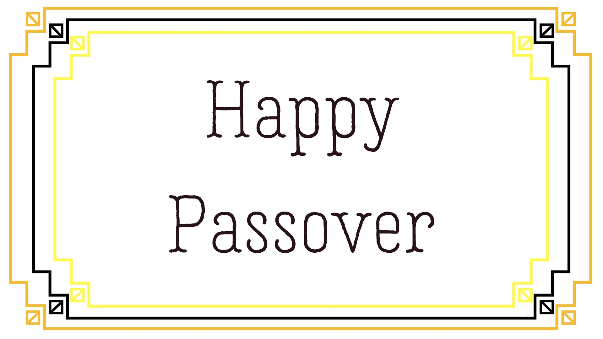 Happy Passover Rectangle Frame Greeting Card Postcard 7