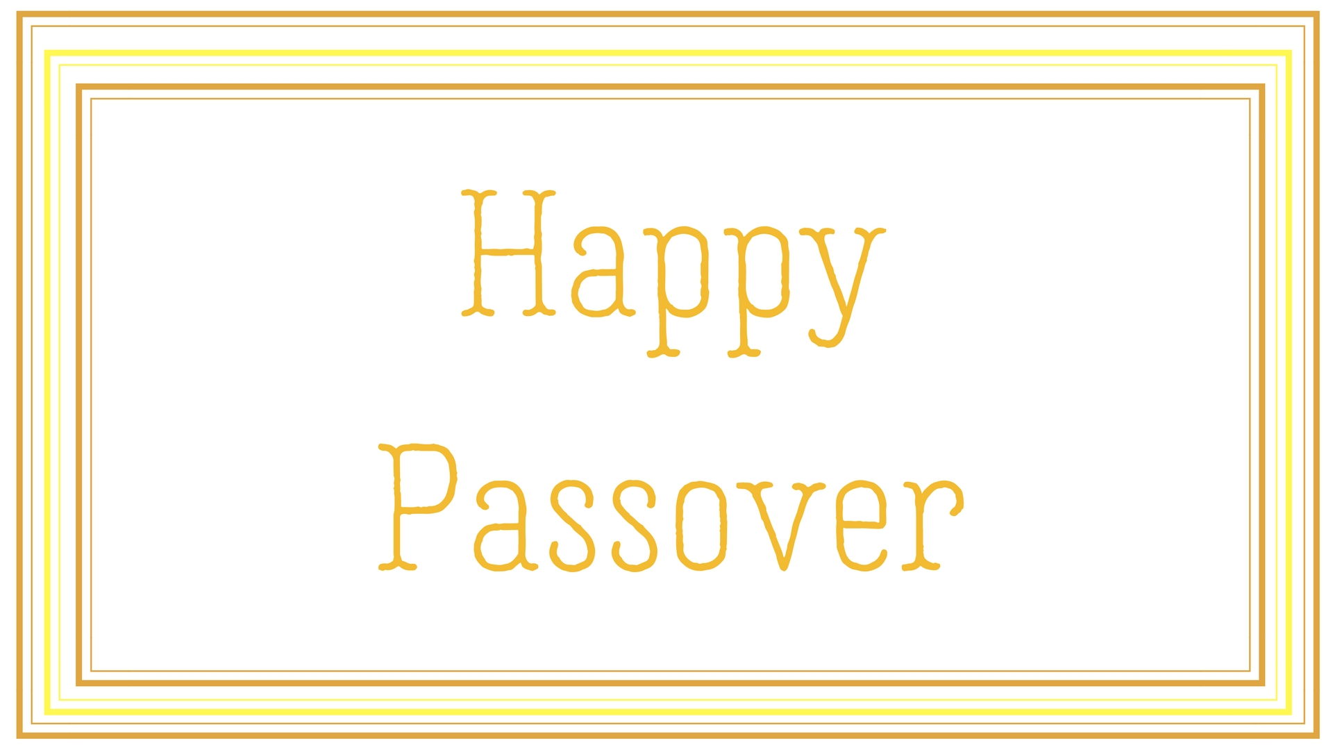 Happy Passover Rectangle Frame Greeting Card Postcard 2