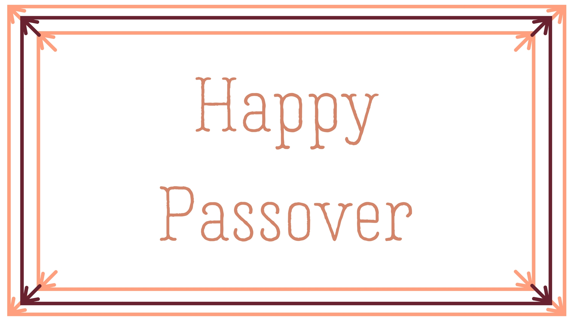 Happy Passover Rectangle Frame Greeting Card Postcard 12