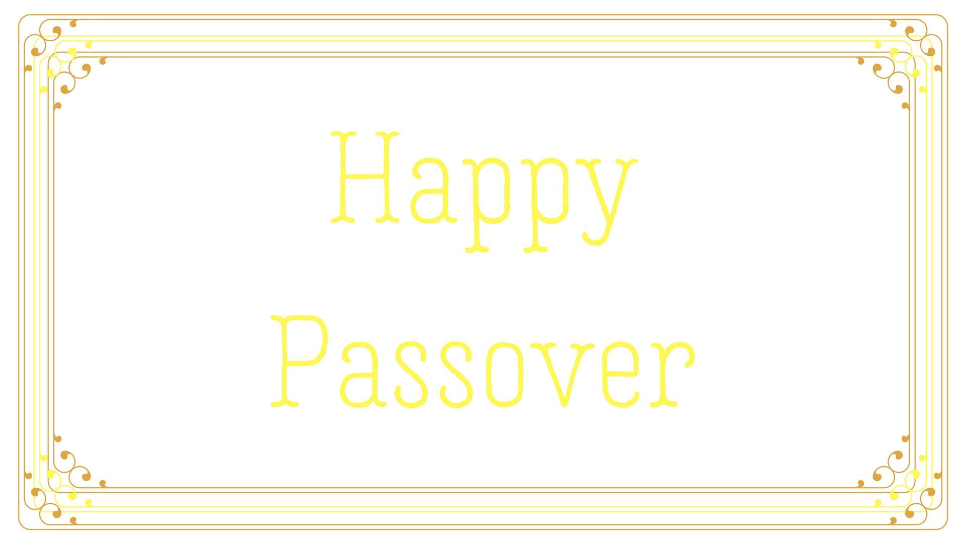 Happy Passover Rectangle Frame Greeting Card Postcard 5