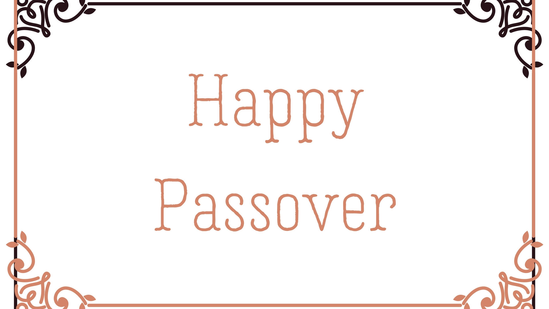 Happy Passover Rectangle Frame Greeting Card Postcard 8
