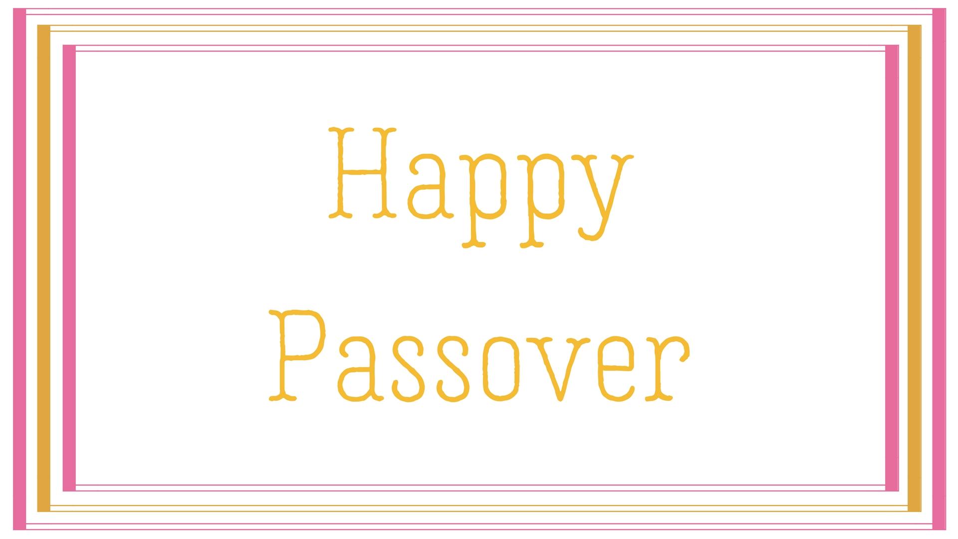 Happy Passover Rectangle Frame Greeting Card Postcard 14
