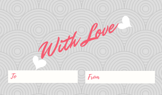 25 Gift, Present Tags For Happy Holidays With Love Pink Gray