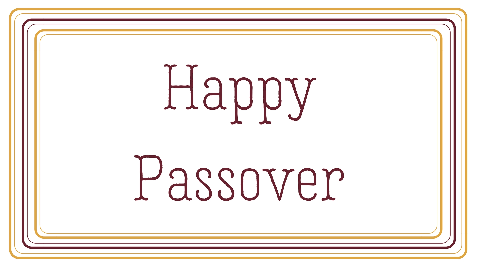 Happy Passover Rectangle Frame Greeting Card Postcard 11