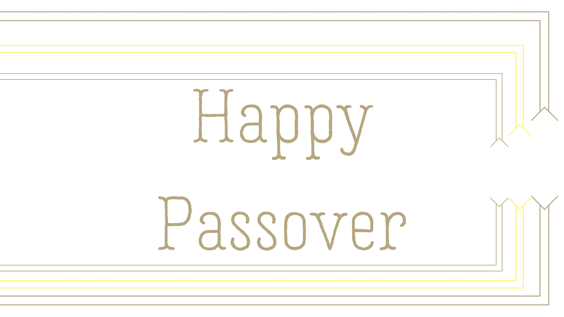 Happy Passover Rectangle Frame Greeting Card Postcard 6