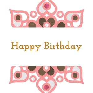 5 Happy Birthday Printable Square Greeting Postcard