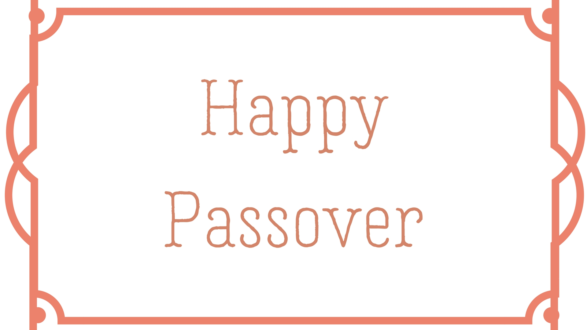 Happy Passover Rectangle Frame Greeting Card Postcard 10