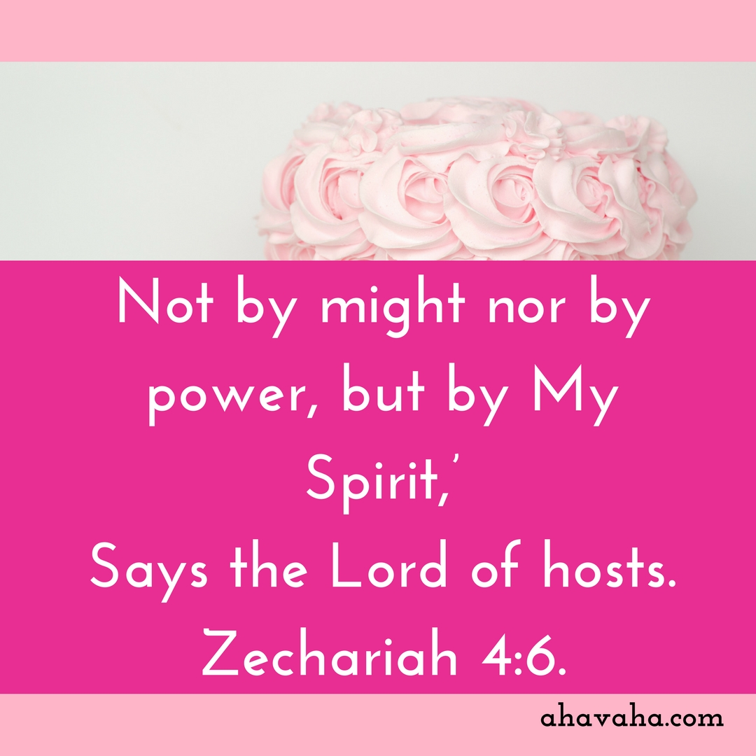 Not by might nor by power, but by My Spirit,' Says the Lord of hosts. Zechariah 4_6. Bible Verse Instagram Post