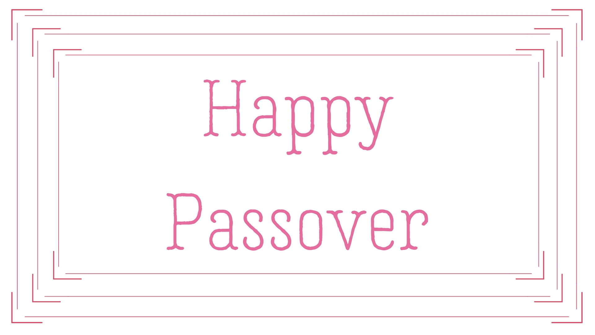 Happy Passover Rectangle Frame Greeting Card Postcard 29