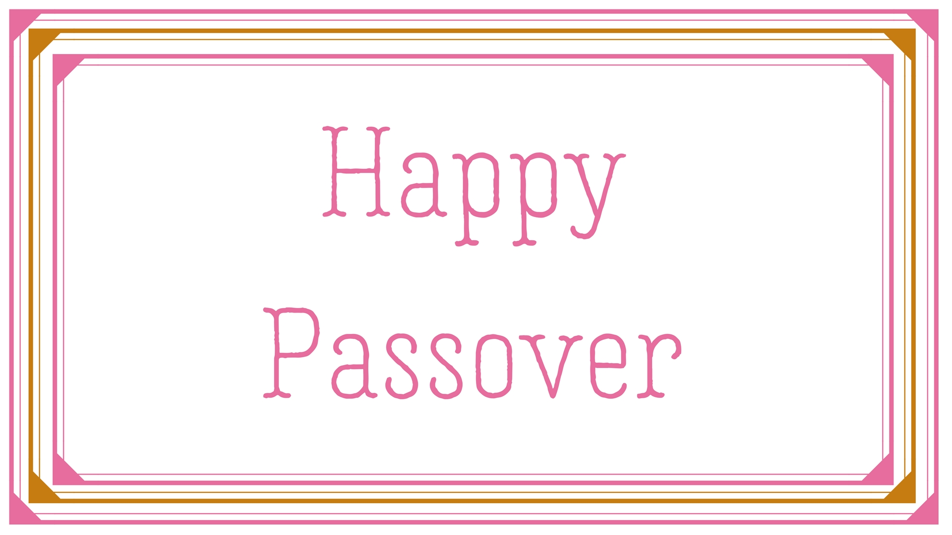 Happy Passover Rectangle Frame Greeting Card Postcard 17