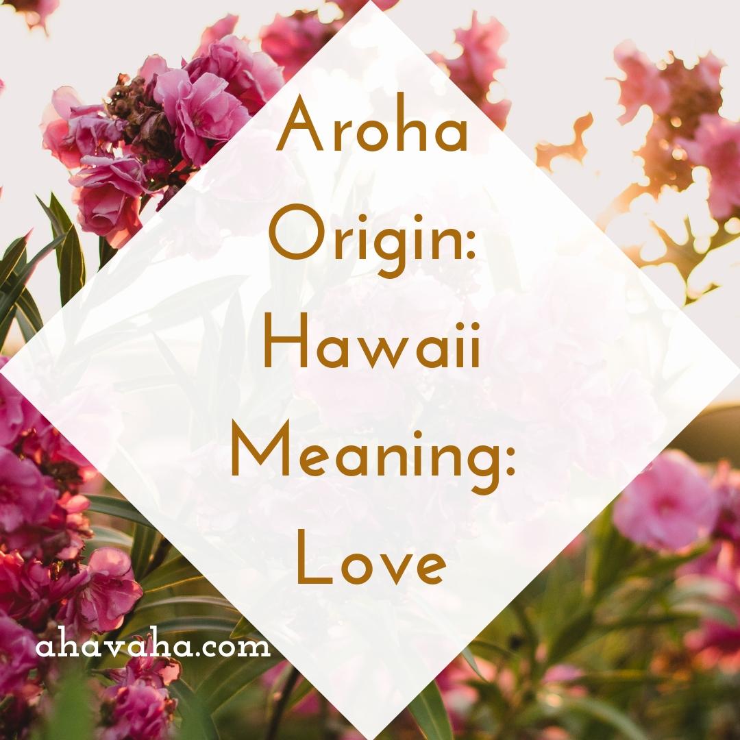 Aroha - Origin - Hawaii Meaning - Love - Female Names Based On Love Social Media Square Image