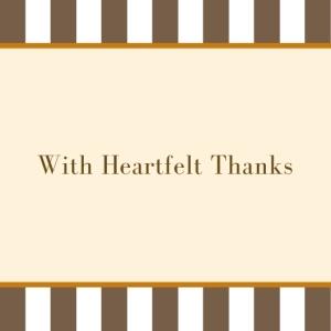 5 With Heartfelt Thanks Printable Square Greeting Postcard