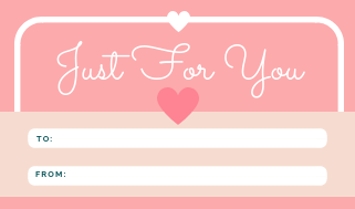 22 Gift, Present Tags For Happy Holidays With Love Just For You Pink