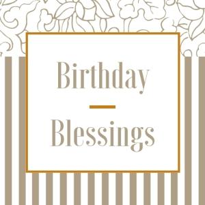 1 Birthday Blessings Happy Birthday Printable Square Greeting Postcard