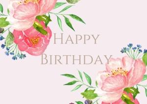 Happy Birthday Greeting Post Card Printable 8