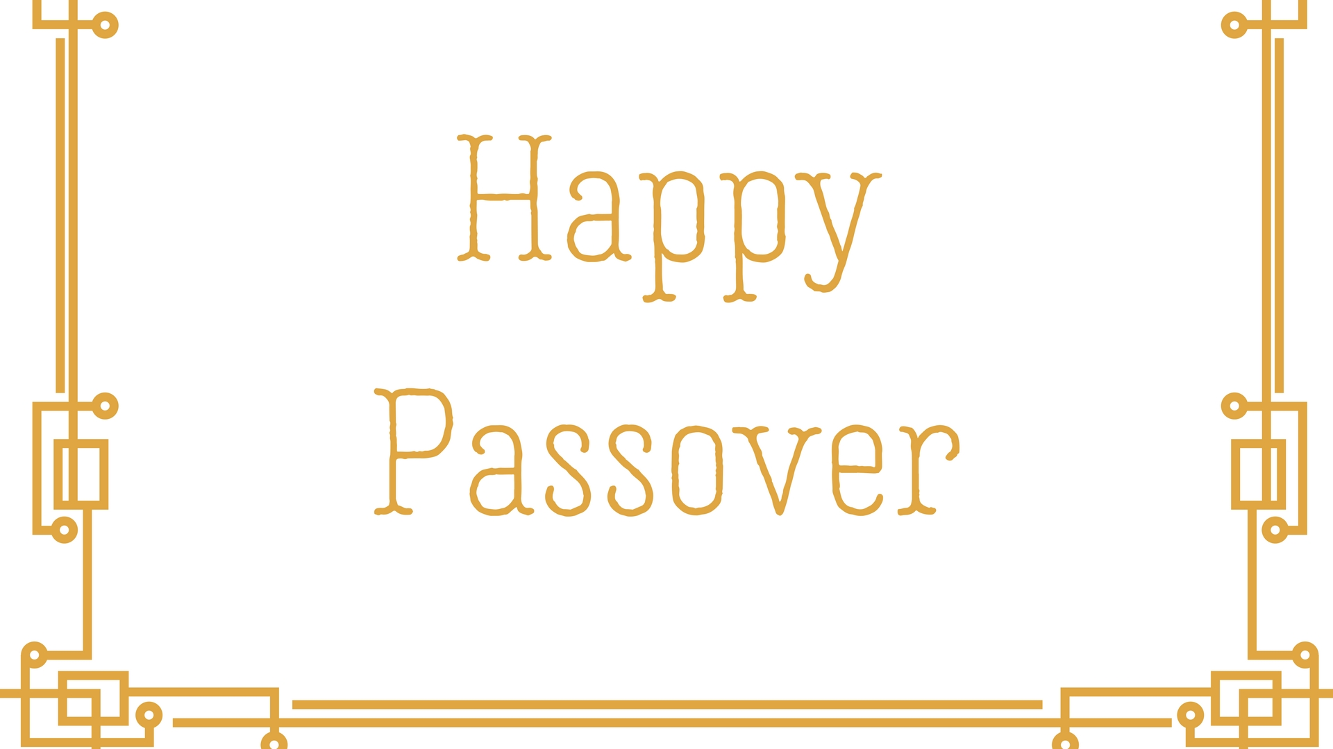 Happy Passover Rectangle Frame Greeting Card Postcard 9