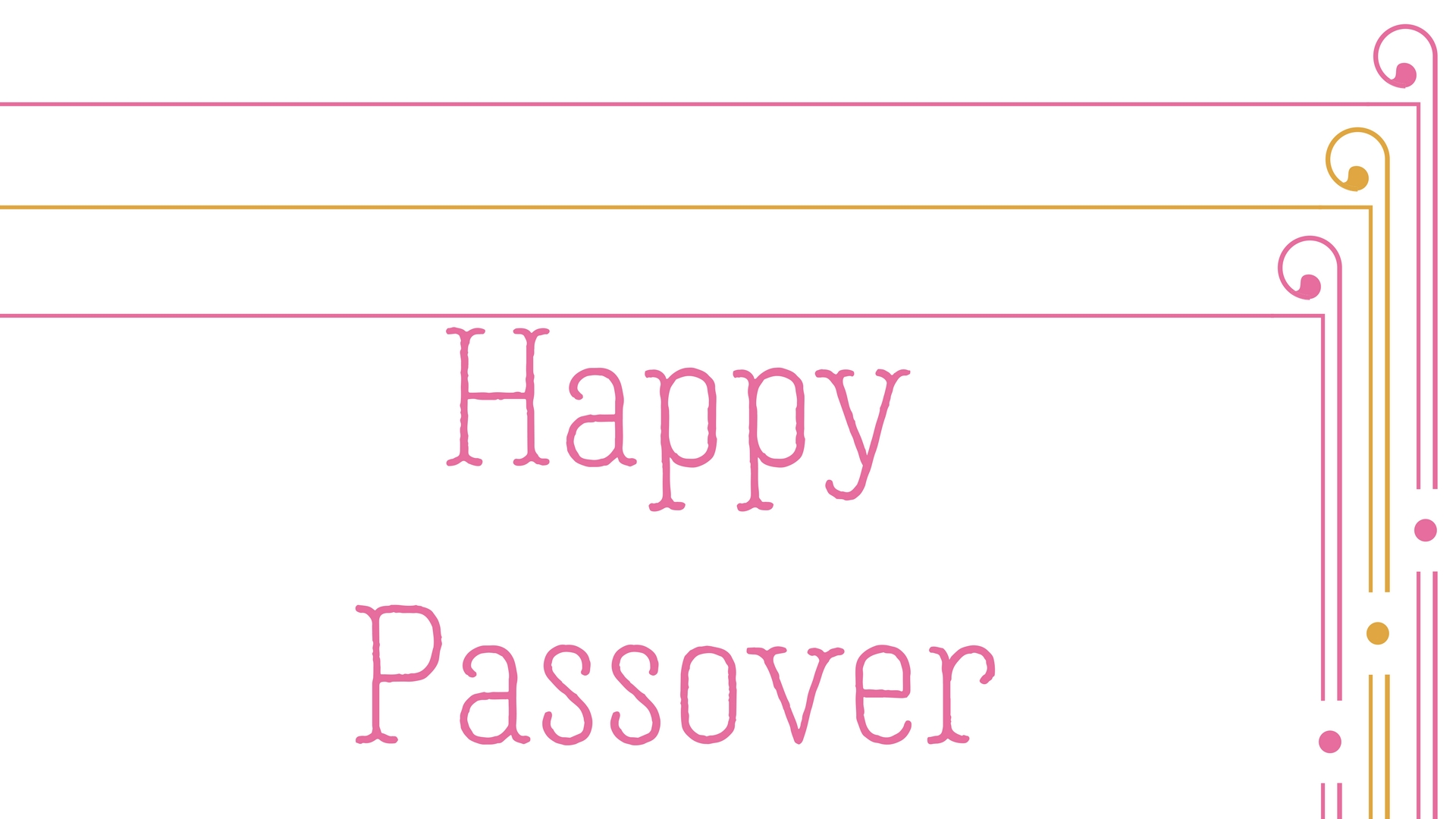 Happy Passover Rectangle Frame Greeting Card Postcard 16