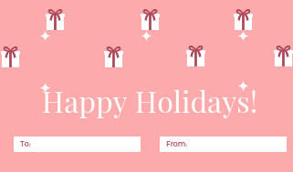 14 Gift, Present Tags For Happy Holidays With Love And Passion Pink Gift Box